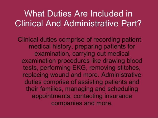medical assistant administrative duties