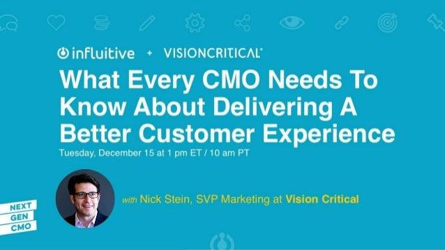 Nick Stein SVP, Marketing Vision Critical @stein_nick