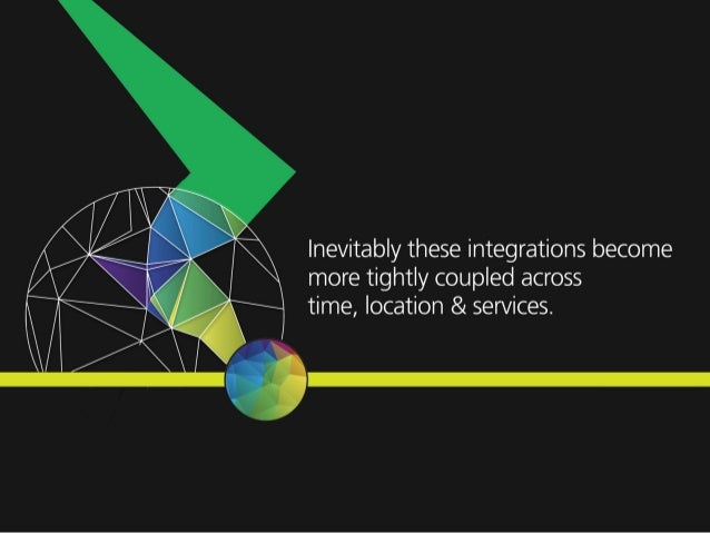 lnevitably these integrations become more tightly coupled across time,  location & services.