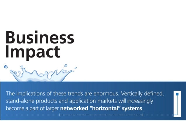 Business Impact  The implications of these trends are enormous.  Vertically defined,   stand-alone products and applicatio...