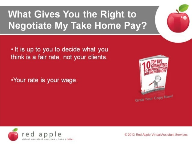 What Gives You The Right To Negotiate My Take Home Pay