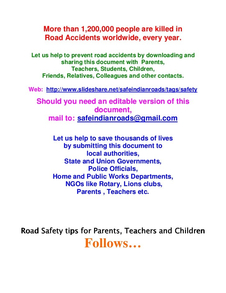 reduce road accidents essay Essays - largest database of quality sample essays and research papers on how to reduce road accidents.