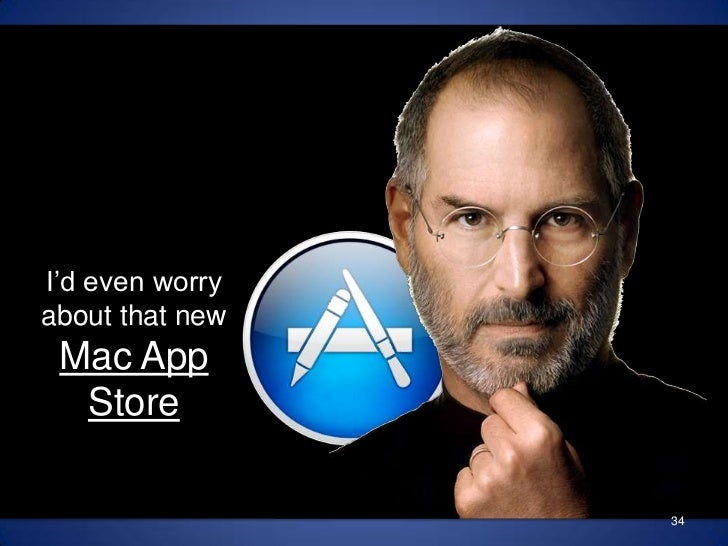 I'd even worry about that new Mac App Store<br />34<br />