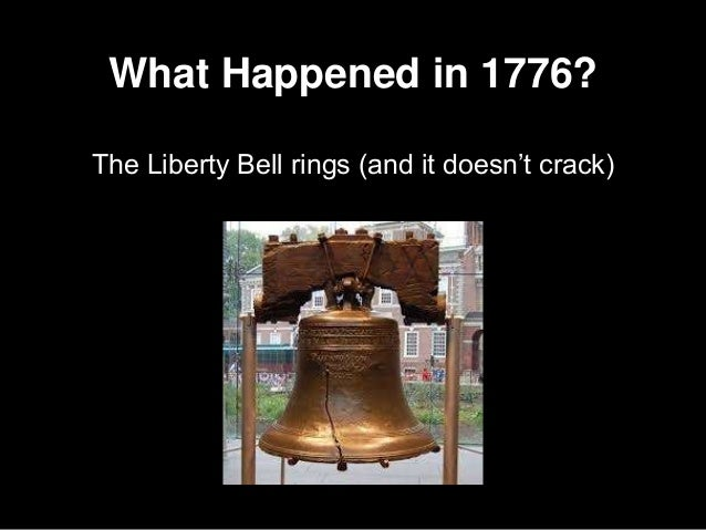 What Happened in 1776? The Liberty Bell rings (and it doesn't crack)