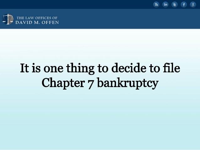 What Happens After A Philadelphia Chapter 7 Bankruptcy Filing Slide 2