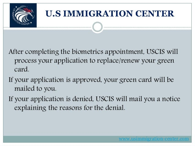 What happens after filing green card renewal (form i 90)