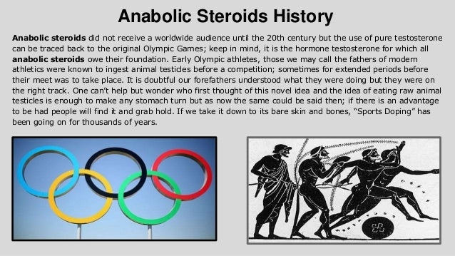 The origins and history of the use of anabolic steroids in sports