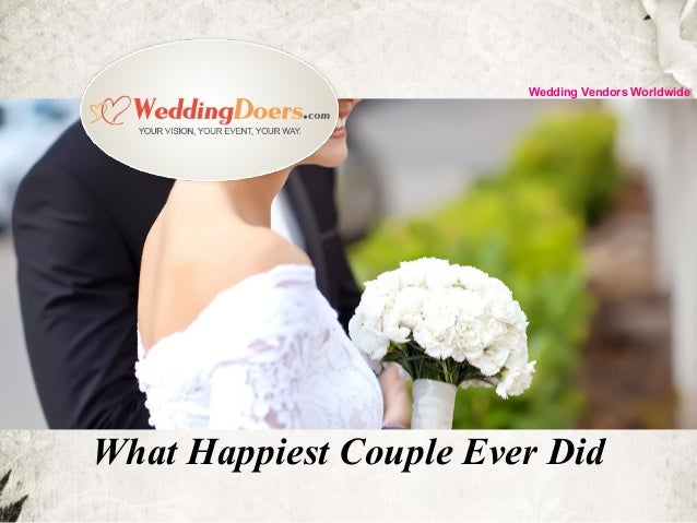 What Happiest Couple Ever Did Wedding Vendors Worldwide