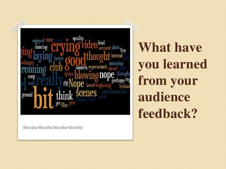 What have you learned from your audience feedback?<br />Wordle/Wordle/Wordle/Wordle/<br />