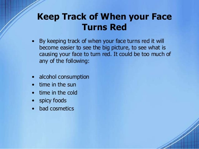 How to stop getting red in the face
