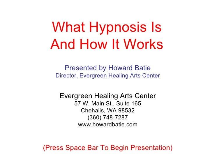 Presented by Howard Batie Director, Evergreen Healing Arts Center Evergreen Healing Arts Center 57 W. Main St., Suite 165 ...