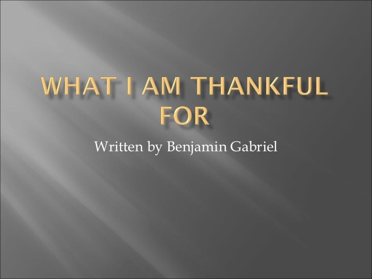 Written by Benjamin Gabriel