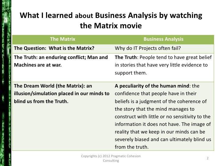 An analysis of the matrix