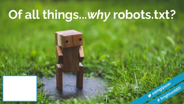 What I learned from analysing thousands of robots.txt files | BrightonSEO 2020 Slide 2
