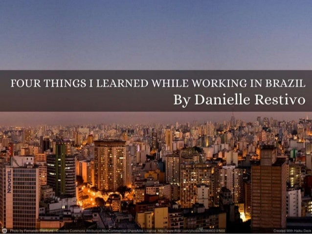 What I Learned in Brazil