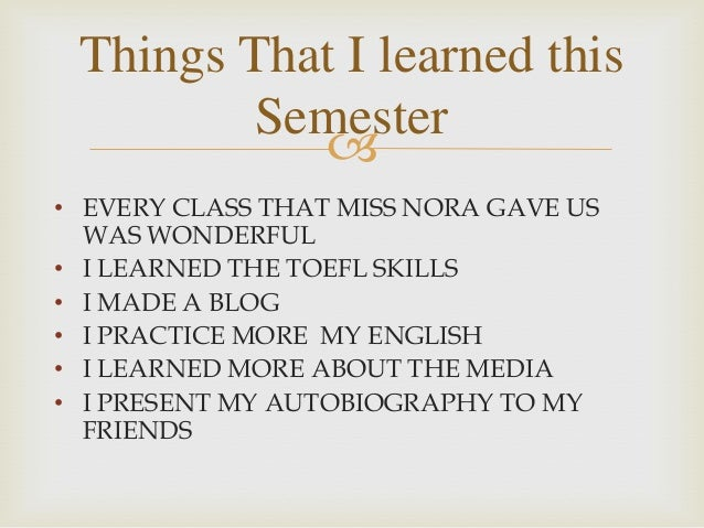 what i learned in english class this semester
