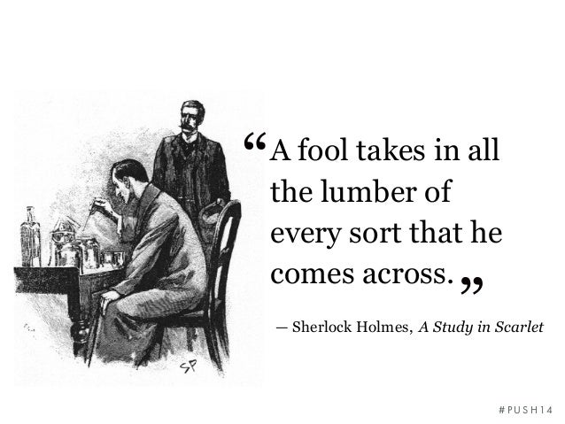 What I Learnt From Sherlock Holmes