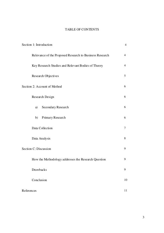 TABLE OF CONTENTSSection 1: Introduction                                          4       Relevance of the Proposed Resear...