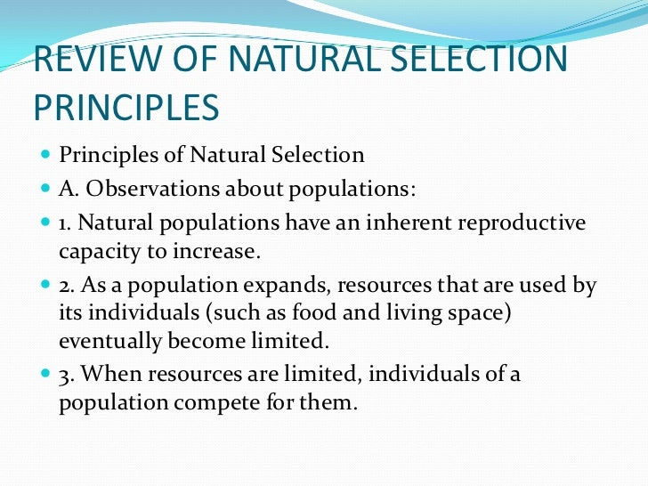 Limited Resources Natural Selection