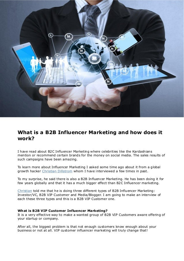 What is a B2B Influencer Marketing and how does it work? I have read about B2C Influencer Marketing where celebrities like...