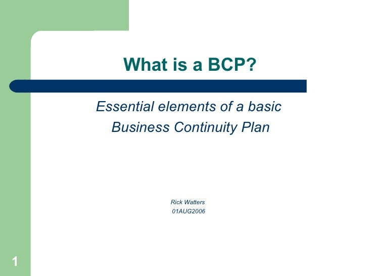 Strategy guide for business continuity planning - CCRPA
