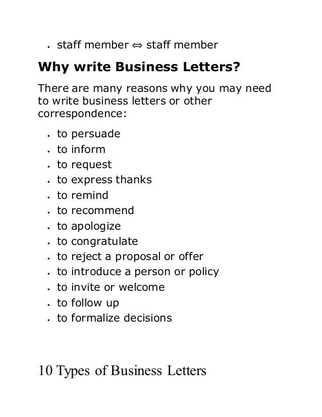 what is business letter