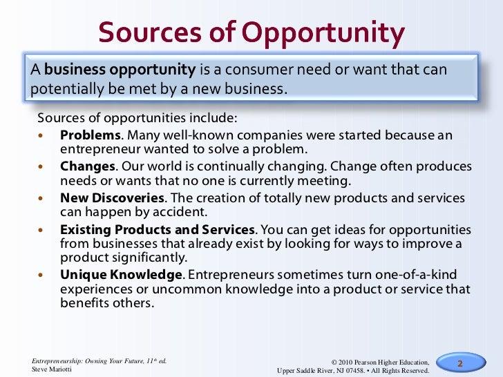 How entrepreneurs identify new business opportunities essay