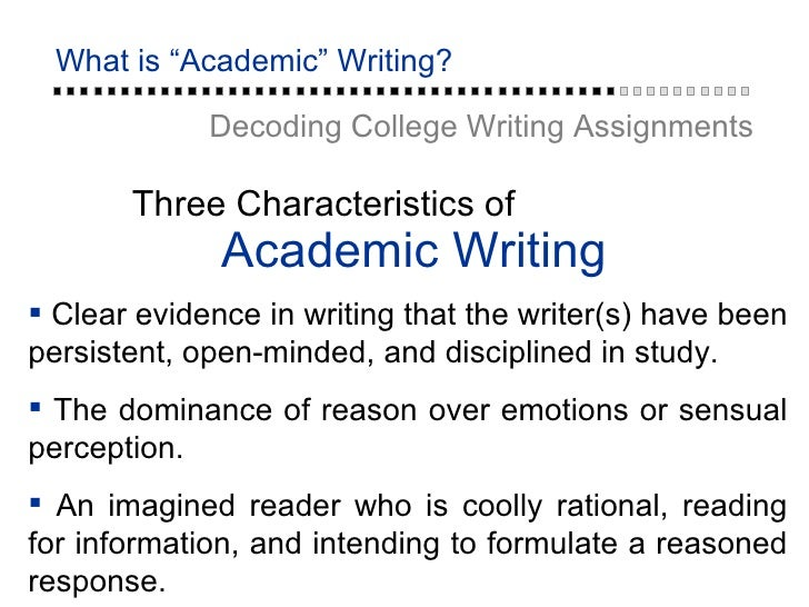 Key Terms in Academic Writing-Online Writing Center