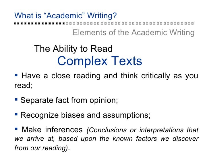 what is an academic writing