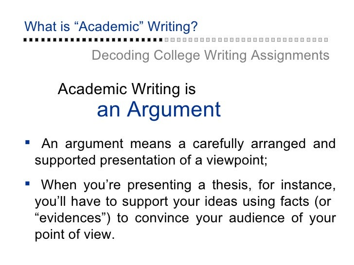 what does audience mean in academic writing