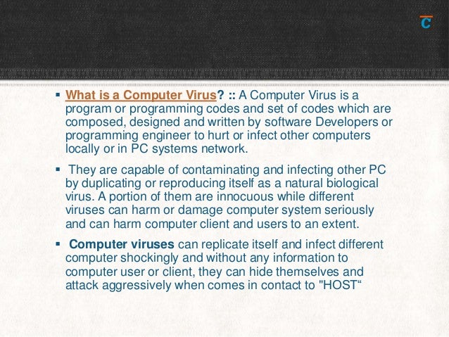 What is a computer virus Slide 2
