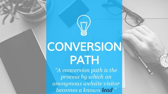 """CONVERSION PATH """"A conversion path is the process by which an anonymous website visitor becomes a known lead."""""""
