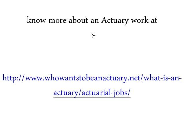 What Is Actuaries Job?