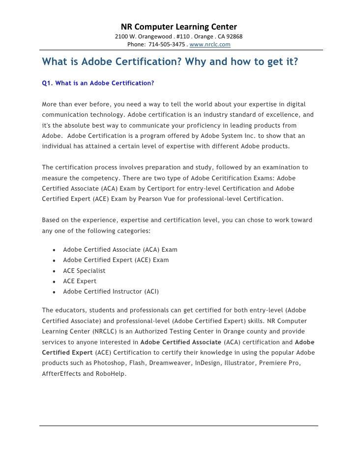 adobe certified associate