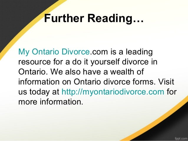 What is a do it yourself divorce 13 further readingmy ontario divorce is a leadingresource for a do it yourself solutioingenieria Gallery