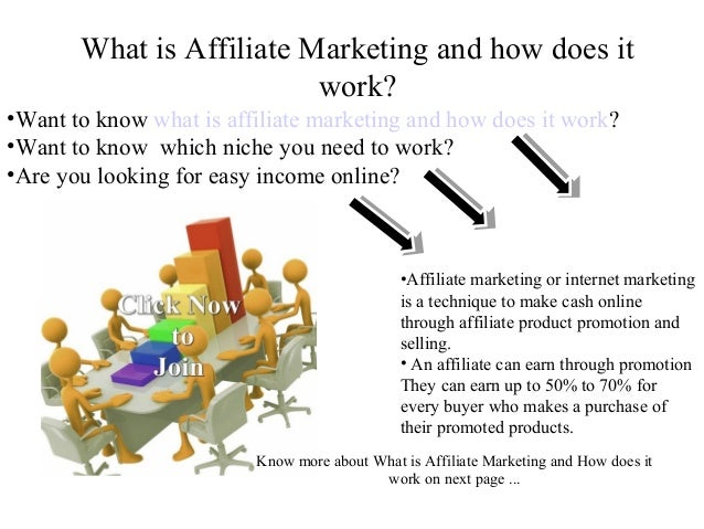 What is Affiliate Marketing and how does it                          work?•Want to know what is affiliate marketing and ho...