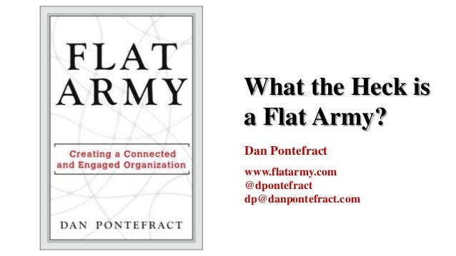 What the Heck isa Flat Army?Dan Pontefractwww.flatarmy.com@dpontefractdp@danpontefract.com