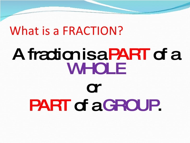 What Is A Fraction