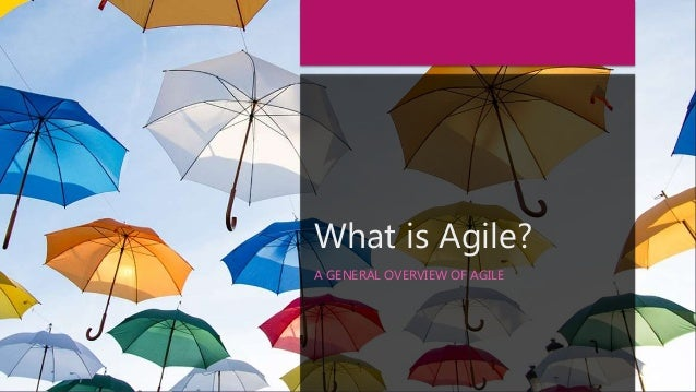 What is Agile? A GENERAL OVERVIEW OF AGILE