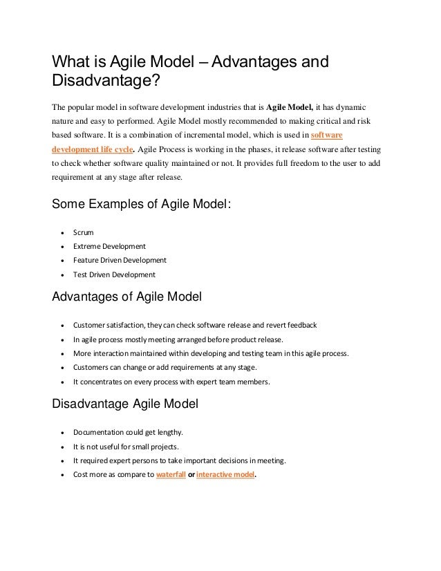 What is Agile Model – Advantages and Disadvantage? The popular model in software development industries that is Agile Mode...