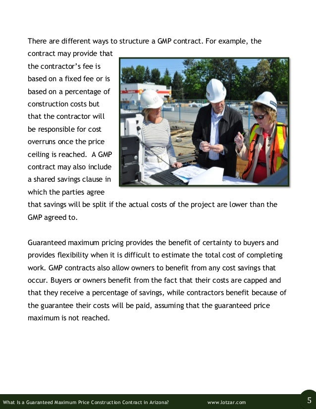 What is a guaranteed maximum price construction contract for Cost plus building contract