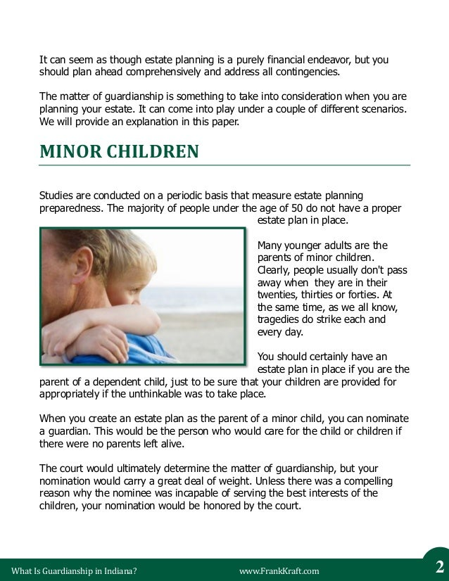 Obtaining Guardianship of a Minor in Indiana