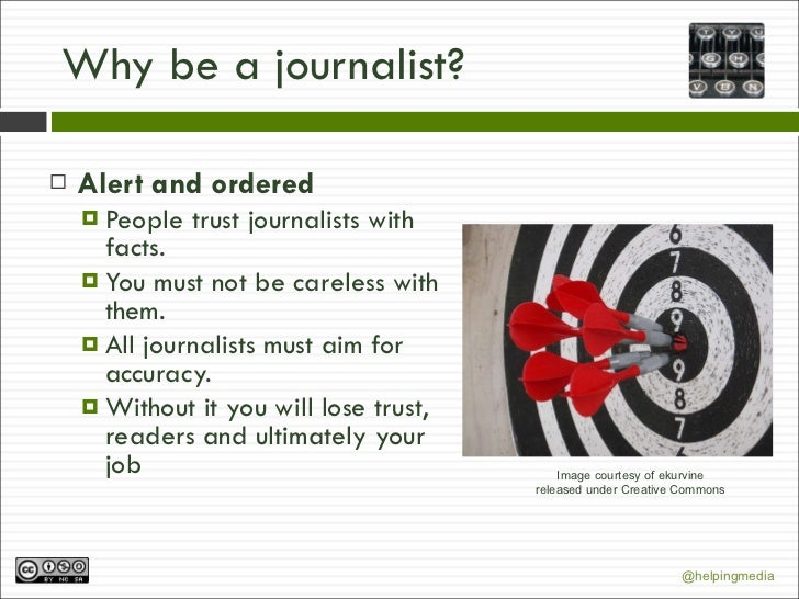 role of a journalist