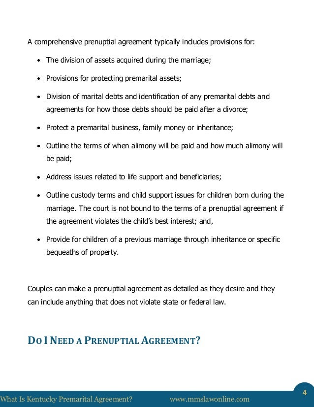 What Is A Kentucky Prenuptial Agreement