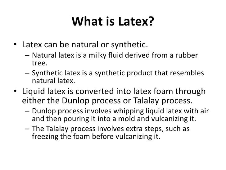 What is a latex