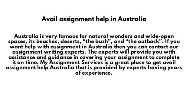 Avail assignment help in Australia Australia is very famous for natural wonders and wide-open spaces, its beaches, deserts...