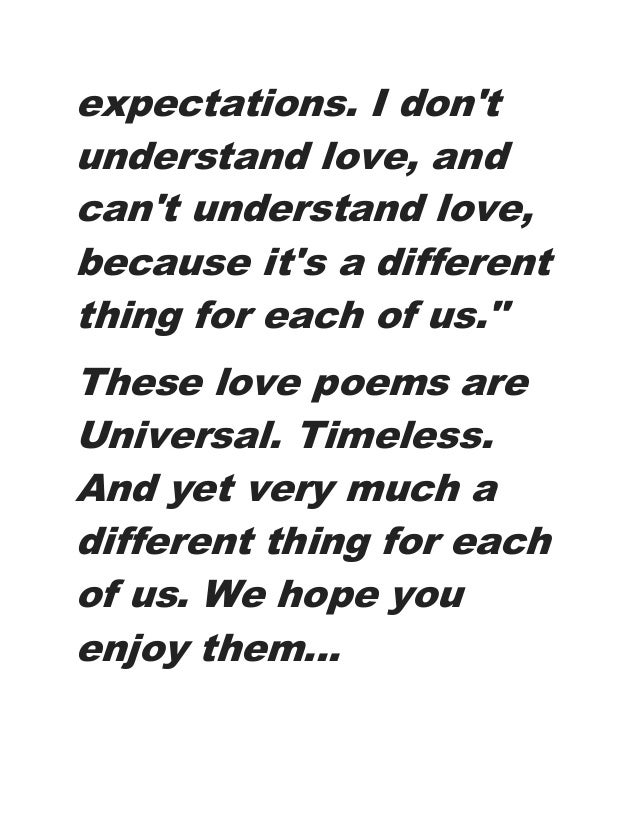 What Is A Love Poem