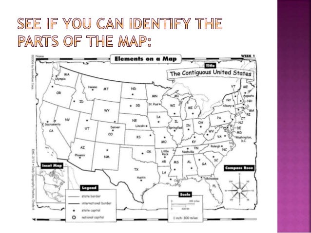 5 main parts of a map What Is A Map Introduction To Map Skills Presentation 5 main parts of a map