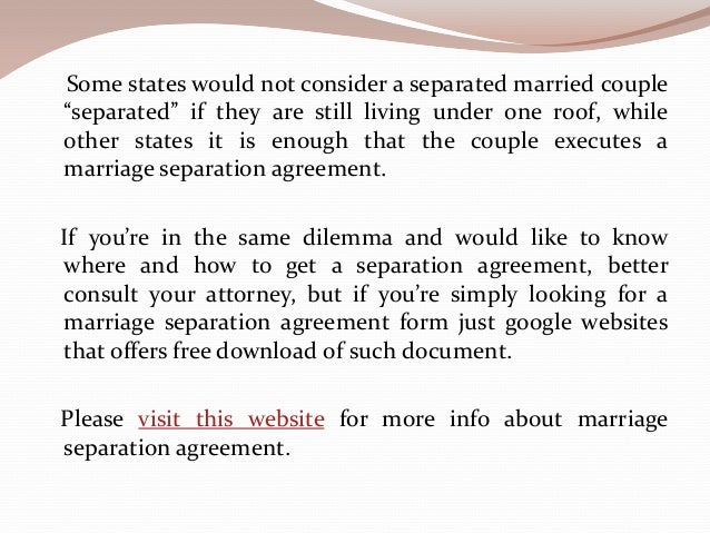What Is A Marriage Separation Agreement Form Where And How To Download
