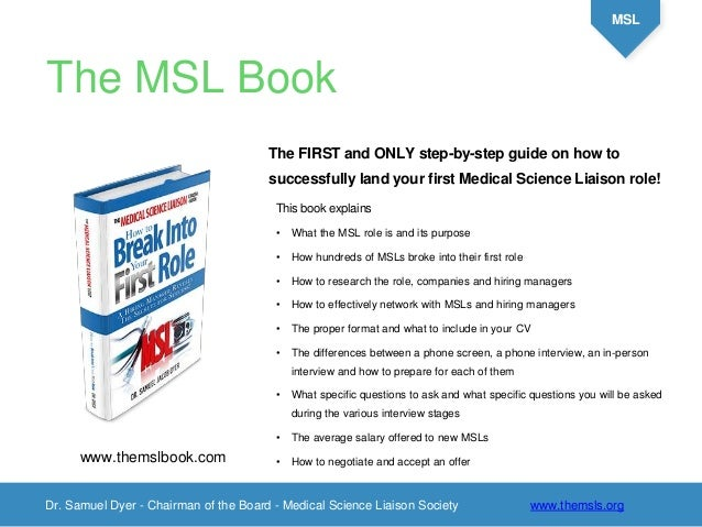 What is a Medical Science Liaison?